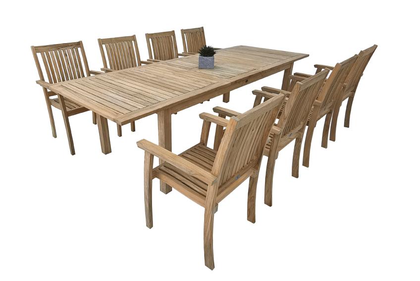 lesena raztegljiva miza