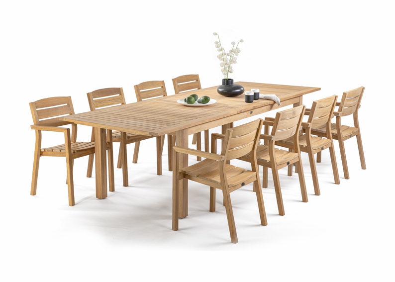 vrtna raztegljiva miza